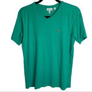 "Lacoste Boys Size 16 (164cm 64"") Green T-Shirt"